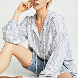 Free People Baja Babe Hooded Long Sleeve